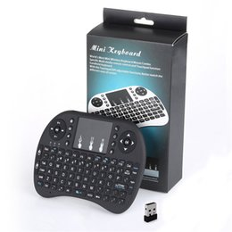 Wholesale Controladores de jogo Inteligente Joystick Mini i8 Teclado Sem Fio Controle Remoto Touchpad para Smart TV Android Box PC Notebook
