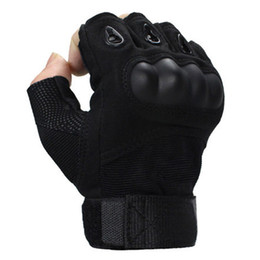 Finger glove Fight online shopping - Special forces men and women sports half finger gloves tactical gloves Army Fighting slip joint carbon fiber shell