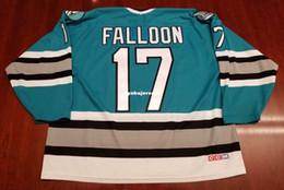 1ee407c1c69 Custom Pat Falloon San Jose Sharks Vintage CCM Cheap Hockey Jersey Green Mens  Retro Jerseys