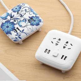 Wholesale 2018 Climbing wall usb socket creative desktop smart plug multi function line card mobile phone charging wiring board safety styles