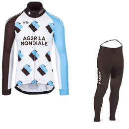 winter fleece 2017 pro team AG2R cycling jerseys long sleeve warmer bike  clothing MTB Ropa Ciclismo Bicycle maillot GEL pad 4cc6ca9b7