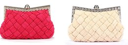 Candy Knit Fabric Canada - Fashion New Luxury Handbags Women Bags Designer Solid Color Knitting High Quality Shoulder Bags Evening Wedding Party Clutch Purses