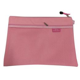 $enCountryForm.capitalKeyWord UK - SCLL Hot Bai Ju A4 waterproof zipper file bag information bag office storage documents Pink
