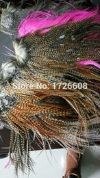 Grizzly Hair Feathers Wholesale UK - 10pcs top quality hairpiece 14 colors available bundle thin grizzly rooster feather hair extensions fashion hair accessories