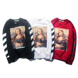 761ca96001 Felpe con cappuccio Autunno e inverno Nuovo modello Tide Card Mona Lisa  T-shirt con stampa digitale chiara e alta Cashmere Sleeve Head Bottoming  Sweater