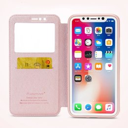 View Window Case Australia - Official Style Leather Case Cover For Iphone X Edge New Arrival Window View