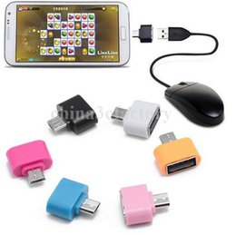 $enCountryForm.capitalKeyWord NZ - colorful Mini Micro USB To USB 2.0 OTG Adapter Converter For Android Phones Samsung Huawei Tablets