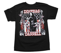 cheap shirts for sale NZ - Pantera Dimebag Darrell US Flag Cheap Sale 100 % Cotton T Shirts for Boys Funny O-Neck T-shirt Top Tee Plus Size