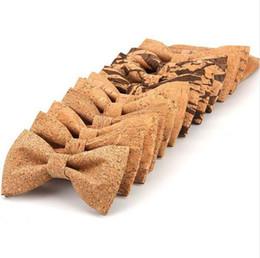 Rbocott cork hout strikje houten boog banden heren nieuwigheid handgemaakte solide bowtie voor mannen bruiloft accessoires nikwear