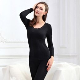 2419a5f8c36 Thermal Underwear Sets New Winter Women Modal Long Johns Seamless Top and  Pant Suit Sexy Slim Body Shaper Warm Tights