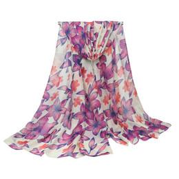 China Wholesale 5 Colors Floral Linen Designer Scarf 180cm*90cm Women Hijab Shawls Pashmina Head Wrap Scarves Table Blanket Beach Towel suppliers