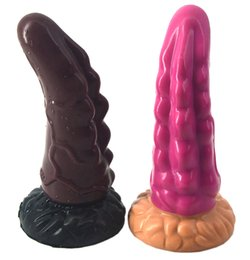 $enCountryForm.capitalKeyWord UK - LZYAA Big anal plug silicone curved with suction cup sawtooth waves dildo sex products g-spot stimulate sex toys soft butt plug
