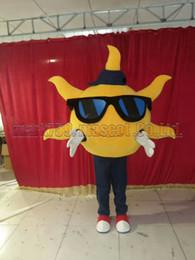 Wholesale mascot costume sun online – ideas sun mascot costume Adult Size sun mascot plush toy carnival party celebrates mascot factory sales