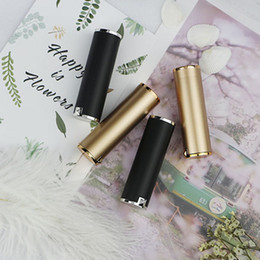 gold cosmetic tubes NZ - lipstick tubes gold Black color Empty lipbalm tube DIY cosmetic packing container 12.1mm fast shipping F552