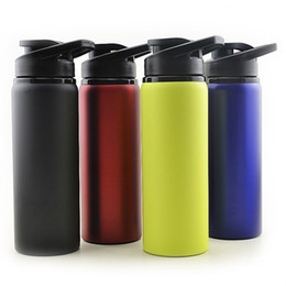 Wholesale 700Ml Stainless Steel Kettle Outdoors Sport Monolayer High Capacity Water Bottles Fashion Leak Proof Bike Travel Drinkware ta Ww