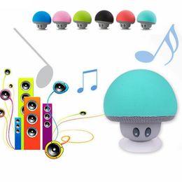 Mp4 cartoon online shopping - Mini Mushroom Bluetooth Wireless car speaker cartoon sucker waterproof sucker mini blueto Loudspeaker Sucker Bluetooth colors FFA120