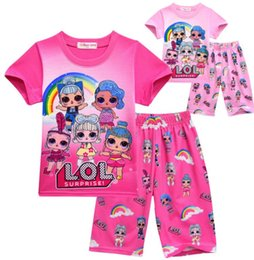 Floral two piece short set online shopping - Surprise Cute Girls Clothing Set Pajama outfits children s Cute Floral printe Top pants two piece sets Boutique Outfits KKA5704