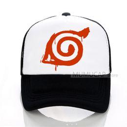999fe764b96 Fashion Japanese Anime Naruto Akatsuki Red Cloud Baseball cap Summer Men  Women outdoor Mesh trucker cap snapback hats