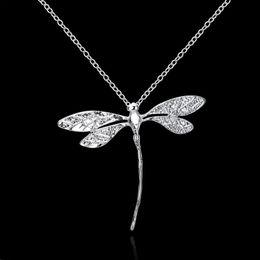 long dragonfly necklace 2019 - LNRRABC Fashion Dragonfly Long Sweater Chain Pendants Necklaces Silver Color Pendant Necklace Clavicle Women Bijoux chea