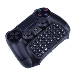 wireless keyboard 1pcs 2019 - 1Pcs Black Wireless Game Gaming Bluetooth Chatpad Message Keyboard for Sony for PlayStation 4 for PS4 Controller With US
