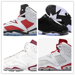 Down Shoes NZ - Hot Sale 2018 cheap 6 basketball shoes Maroon Angry bull black cat Infrared Oreo Carmine Alternate Hare Chrome Sneaker Sports Sale size 8-13