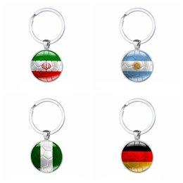World cars online shopping - 2018 World Cup Key Buckle Colorful National Flag Design Keys Ring Cute Round Shape Football Fans Love Keychain Charms xm Z