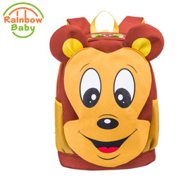 $enCountryForm.capitalKeyWord Canada - Rainbow Baby Cartoon Mouse Kids Baby Bag Waterproof Ultra -Light Anti -Lost Rope Child 'S Snack Bag Boys Girls School Backpack