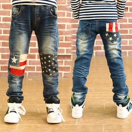 Denim style for babies online shopping - Spring kids pants boys girls baby jeans children jeans for boys casual denim pants Y toddler clothing high quality