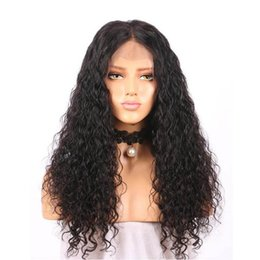 Long Hair Wave Style Australia - Water Wave Lace Front Human Hair Wigs With Baby Hair Deep 13x6 Hair Lace Front Wig Pre Plucked style by tiffanyhair factory