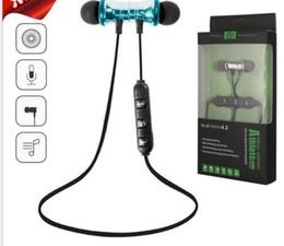 Date Bluetooth Casque Magnétique Sans Fil Courir Sport Écouteurs Casque BT 4.2 avec Micro MP3 Earbud Pour IPhone Smartphones