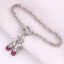 ballet charm bracelet Canada - Drop Shipping Fashion Rhodium Plated With Colorful Crystal Bow Ballet Bowknot Shoes Link Chain OT Bracelet Jewelry