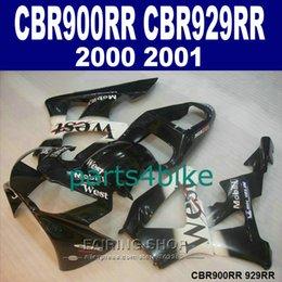 Honda Cbr929 Australia - 7 gifts Fairings set for Honda CBR900RR CBR929 2000 2001 white black fairing kit CBR929RR00 01 DF34