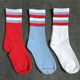 $enCountryForm.capitalKeyWord Canada - Gosha Rubchinskiy Striped Stocks Stockings Men Women Unisex Hip Hop Stocks Top Quality Skateboards Jogging Stockings White Red Blue OXH0115