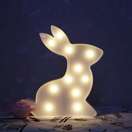 $enCountryForm.capitalKeyWord NZ - 3D Animal Night Lights Unicorn Bear Marquee LED Battery Nightlight Desk Night Lamp For Baby Kids Bedroom Decoration
