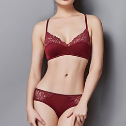 07777535a5 wholesale Women See Through Top Design Underwear Lingerie Sets Female  Transparent Sexy Bra Set BC Cup Ultra-thin Lace Bralette
