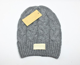 Best Quality Beanies Canada - hot fashion classic tight-fitting knitted hat the best quality of wool women's hat headdress Warm Ladies Beanie Skull Caps