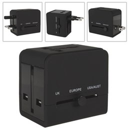 $enCountryForm.capitalKeyWord NZ - International Charger Adapters Black 2 USB Port Sockets Power Plug Charger Adapter for World Travel AU US EU UK Plug CHA_052