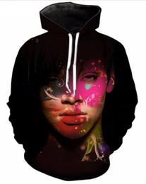Rihanna 3d sweatshiRt online shopping - Colorful Rihanna D Printed Pullover Hoodies hooded Sweatshirts for Women men