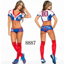 $enCountryForm.capitalKeyWord UK - Sexy Lingerie Uniform Soccer Player Cheerleader World Cup Football Girl party dress Fancy Dress Costume SM8887
