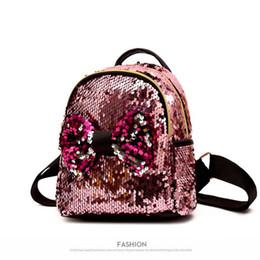$enCountryForm.capitalKeyWord Australia - Fashion Sequins Mini Women Travel Lovely Bow Backpack Bling Female Shiny Bag Pack For Teenage Girls Shoulder Handbag Rucksack