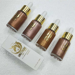 Long Lasting Liquid foundation online shopping - Unistrobe illuminator Drops Liquid Highlighter face highlighter make up cosmetics for girls teens foundation cream highlighter colors