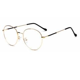 eff81cc0d79 2018 New Fashion Round metal Frame Eyeglasses Frames Good quality Men Women  Optical Plain Mirror Eye Glasses Frame for Myopia Glasses