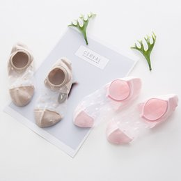 Discount sexy black women glasses - 2018 Summer 1Pair Sexy Short Socks Women Girl Crystal Glass Silk Mesh Knit Lace Transparent Summer Invisible Ankle Socks