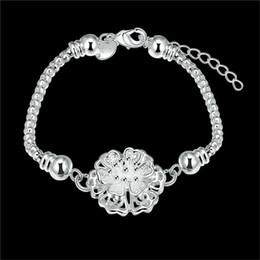 $enCountryForm.capitalKeyWord Australia - H385 beautiful design Silver flower charm bracelet fashion jewelry Christmas gift for woman global hot new designs