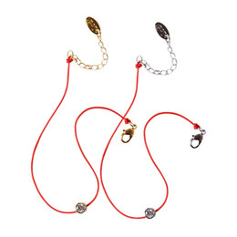 $enCountryForm.capitalKeyWord NZ - whole saleNew Fashion Red String Hand Rope Simple One Crystal 2 Colos Rose Gold Color Fashion Jewelry New Arrival Bracelets for Lovers