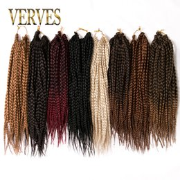 Discount curly ombre crochet hair - VERVES Box Braids Hair Synthetic 14 inch Crochet Hair Extensions 22 Strands pack Ombre Braiding Hair Braids