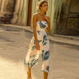 $enCountryForm.capitalKeyWord NZ - KAILYE Wide Leg Bodysuit Leisure And Loose Beach Women Jumpsuits Summer Long Female Chiffon Rompers Fashion Sexy Print Jumpsuit