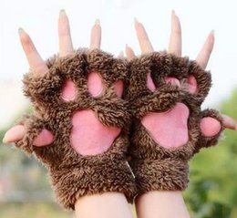 Paw Glove Cosplay NZ - 100pcs The maid cat mother cat claw gloves Cosplay accessories Anime Costume Plush Gloves Paw Party gloves Supplies lin4093