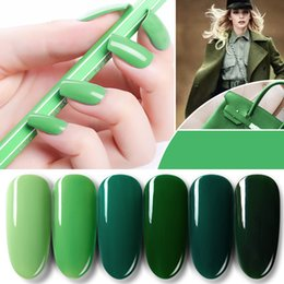 uñas lugares al por mayor-1PC Blue Place Ekbas ml Forest Green Gel de uñas Nail Shiny Vanish Lacquer UV LED Lamp Colores Soak Off Cosmetics Manicure