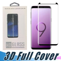 3d surface online shopping - Case Friendly Tempered Glass D Curved Full Surface Screen Protector Film For Samsung S9 S8 Plus Note S7 S6 Edge with Retail Package